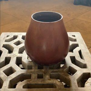 MID CENTURY / Boho wood vase